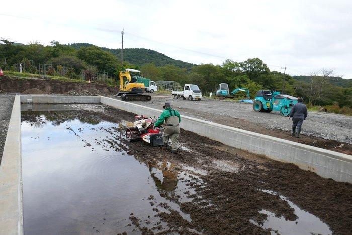 日光天然の氷 四代目徳次郎 新氷池建設中!