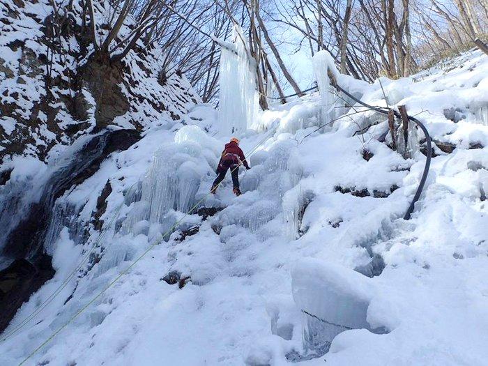 霧降高原丁字滝 今年も凍らせました!